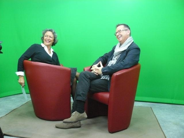 Catherine Salez et Christophe Labrousse pendant l'enregistrement de l'émission